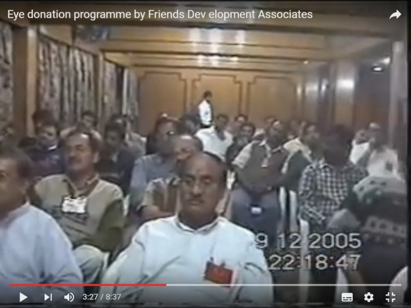 FDA members carefully listioning speech of Kishor soni on netradan