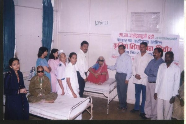 Free cataract surgery camp by vyankatesh pariwar