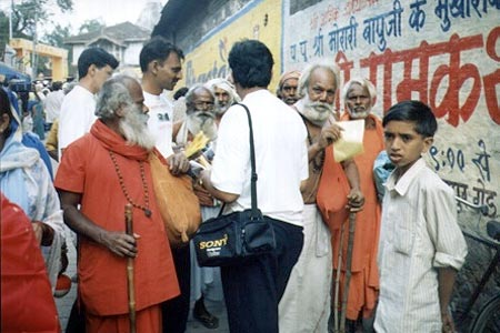 Amongst Sadhus at Nashik Kumbh Mela, August 2003