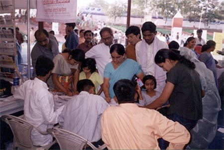 Eye Donation Camp Maha-Expo Industrial Exhibition at Aurangabad 14th to 21st Dec 2003
