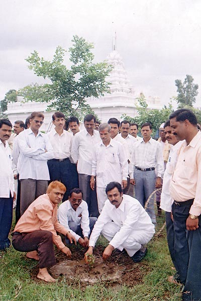 Tree Plantation by President of Vyankatesh Pariwar Mr. Kishor Soni