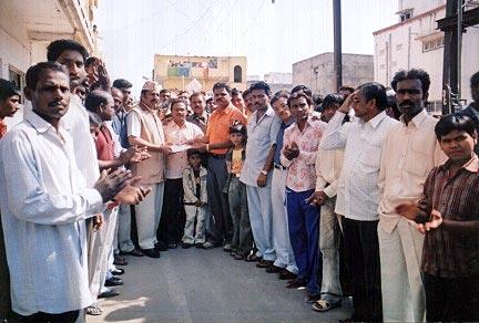 Eye Donation Camp Shiva, Kirda Manda, Aurangabad 1st Jan 2006, 55 Eye Pledge forms were collected