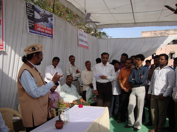 Ad.kishor soni expresses his view on eye donation mission