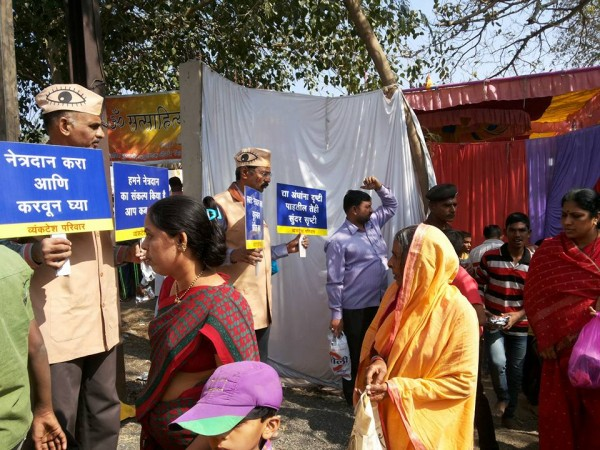 Creating awareness about eye donation