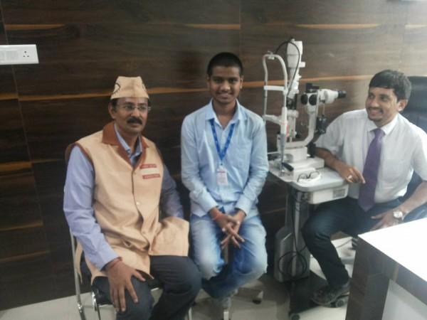 Akshay a boy who got vision by eye donation