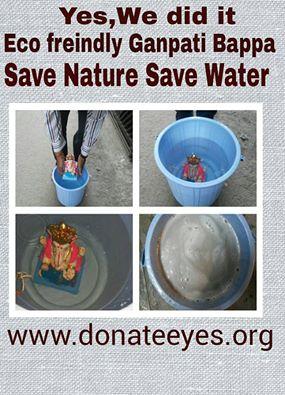 Shadu Mati Ganpati easily dissolve in water