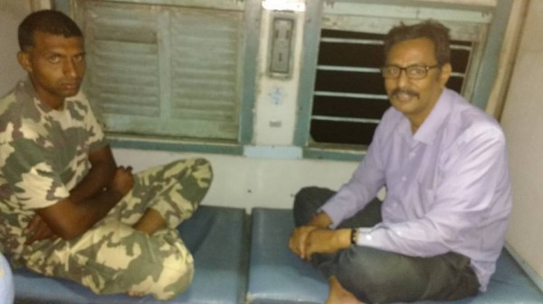In train with NSG cammando