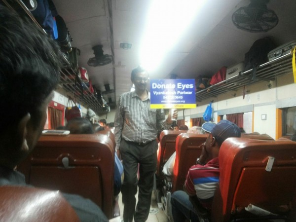 Ad.kishor soni's Netradan campaign in Train