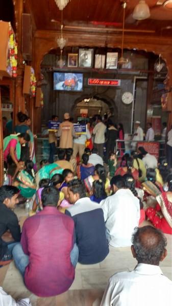 Netradan prachar in temple