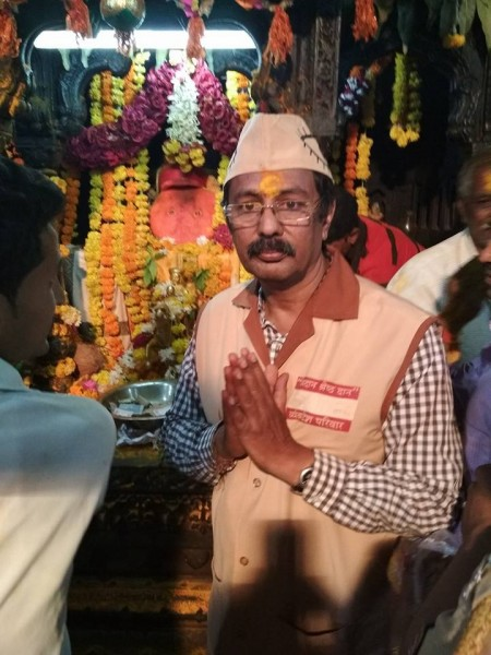 Taken blessings from God Khandoba first before start campaigning.