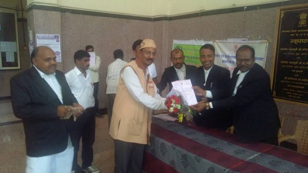 District Bar council committee felicated ADV Kishor soni