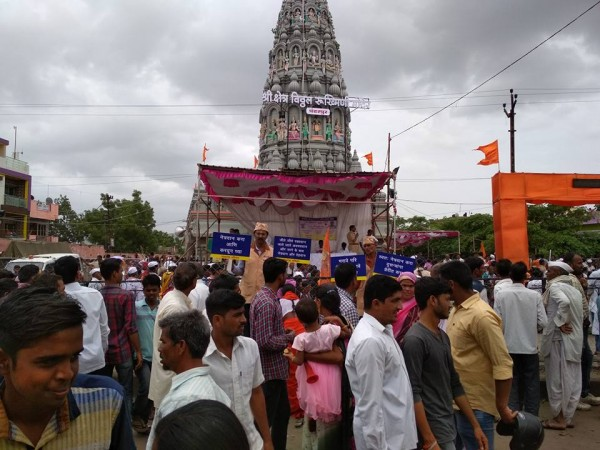 In front of Vitthal Mandir
